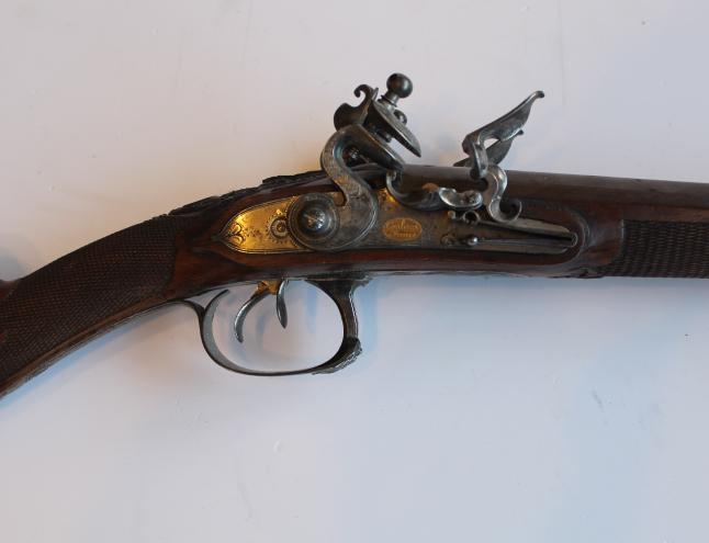 Fusil de chasse à silex époque Empire par Couleaux Frères